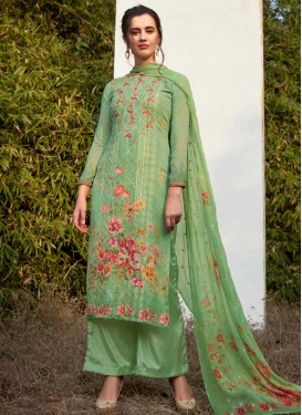 Digital Print Work Faux Georgette Palazzo Style Pakistani Salwar Suit