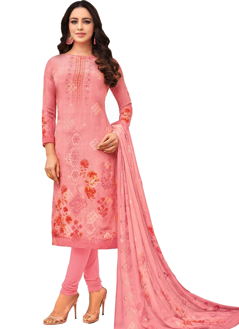 Digital Print Work Pakistani Straight Salwar Kameez