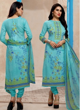 Digital Print Work Pakistani Straight Salwar Suit