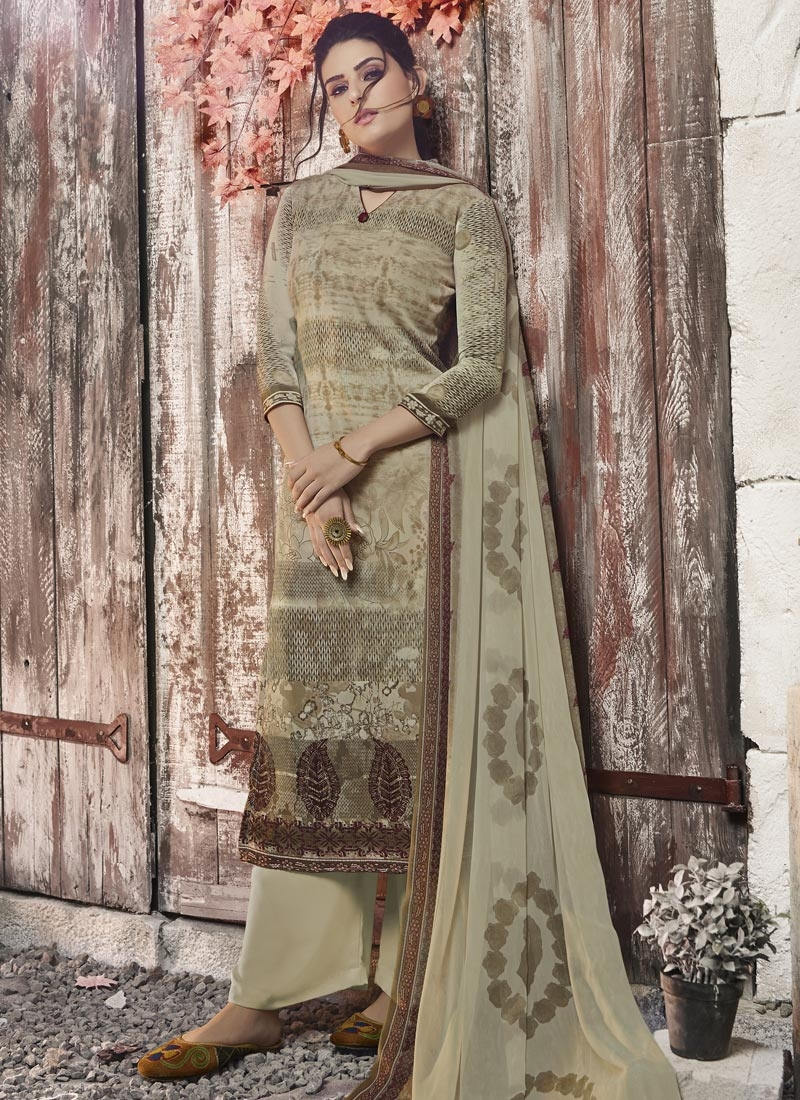 Digital Print Work Palazzo Style Pakistani Salwar Kameez