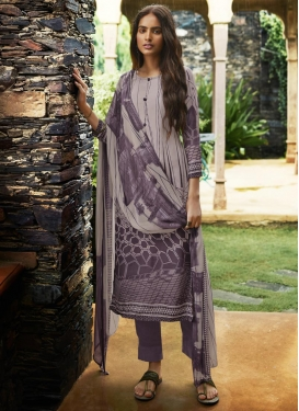 Digital Print Work Pant Style Pakistani Salwar Kameez For Ceremonial