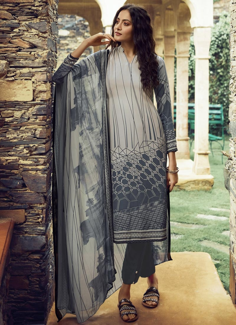 Digital Print Work Pant Style Pakistani Salwar Suit