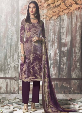 Digital Print Work Pant Style Salwar Kameez
