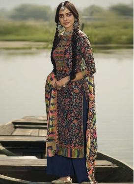 Digital Print Work Pasmina Palazzo Style Pakistani Salwar Suit