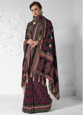Digital Print Work Pasmina Trendy Classic Saree