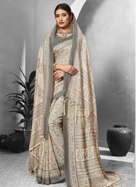Digital Print Work Pasmina Trendy Classic Saree