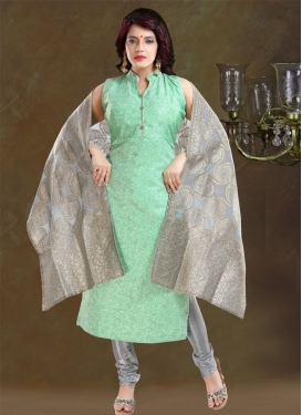 Digital Print Work Readymade Churidar Salwar Kameez