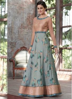 Digital Print Work Readymade Classic Gown