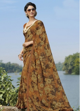 Digital Print Work Traditional Designer Saree