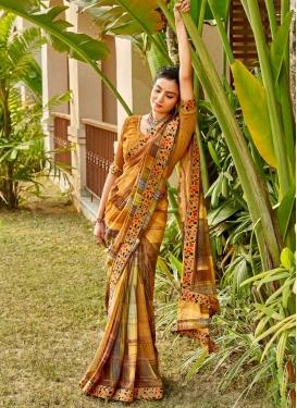 Digital Print Work Traditional Saree