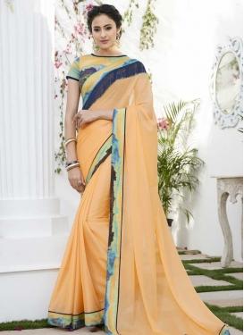 Digital Print Work Traditional Saree For Ceremonial