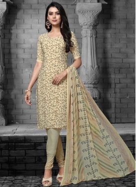 Digital Print Work Trendy Churidar Salwar Kameez