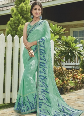 Digital Print Work Trendy Classic Saree
