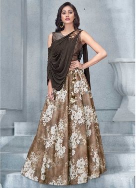 Digital Print Work Trendy Designer Lehenga Choli