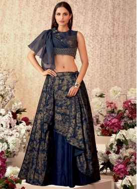 Digital Print Work Trendy Layered Lehenga Choli