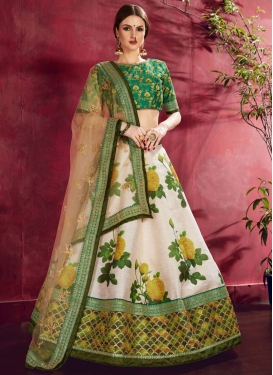 Digital Print Work Trendy Lehenga
