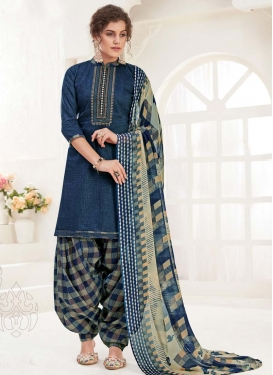 Digital Print Work Trendy Patiala Salwar Kameez