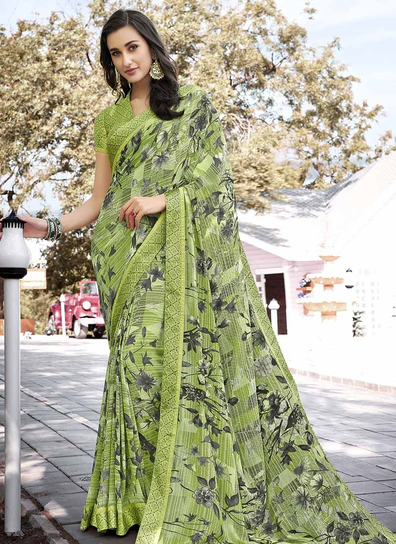 Digital Print Work Weight Less Designer Traditional Saree