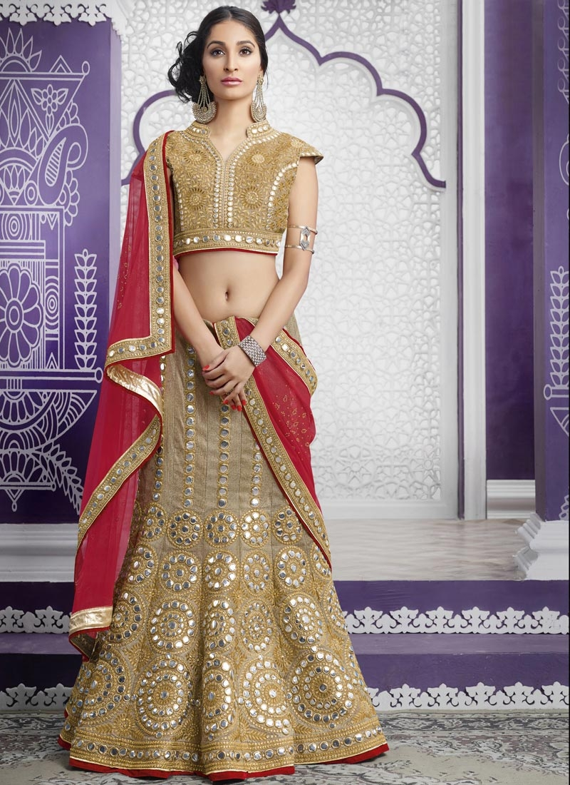Dignified Lace Work Designer A Line Lehenga Choli