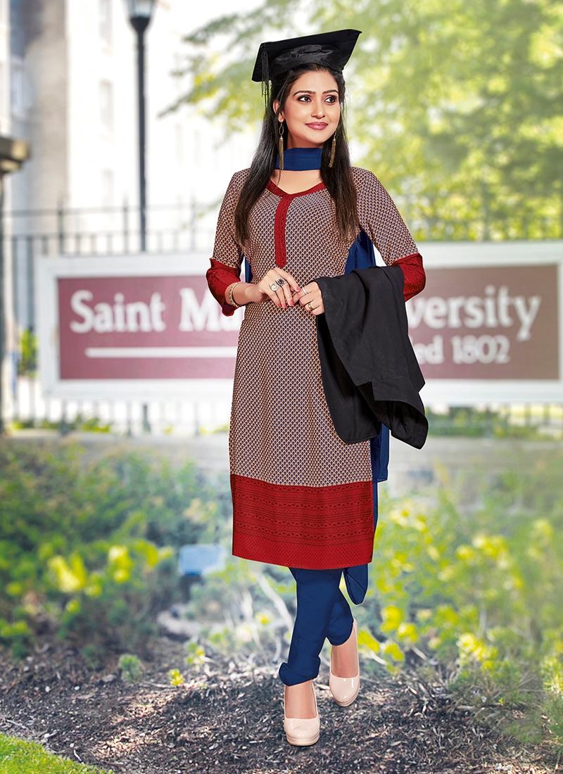 Dignified Multi Colour Churidar Suit