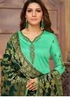 Dilettante Sea Green Casual Churidar Salwar Kameez - 1