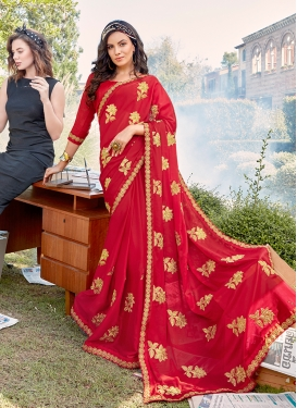 Distinctive Faux Georgette Classic Designer Saree