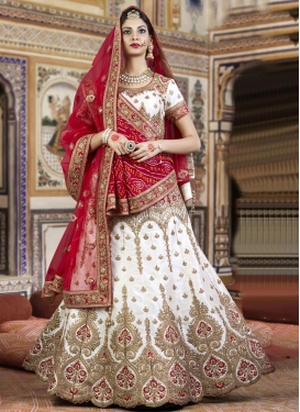 Distinctive Silk Booti Work Designer Classic Lehenga Choli
