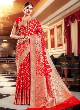Distinctively Weaving Art Silk Trendy Saree