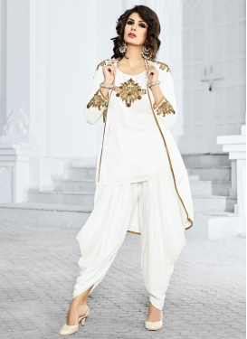 Distinguishable Booti Work Designer Patiala Suit