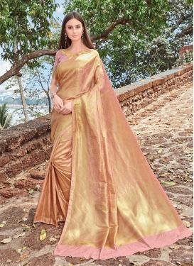 Distinguishable Jacquard Silk Festival Designer Traditional Saree