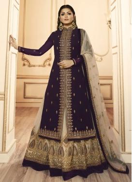 Drashti Dhami Booti Work Designer Kameez Style Lehenga Choli