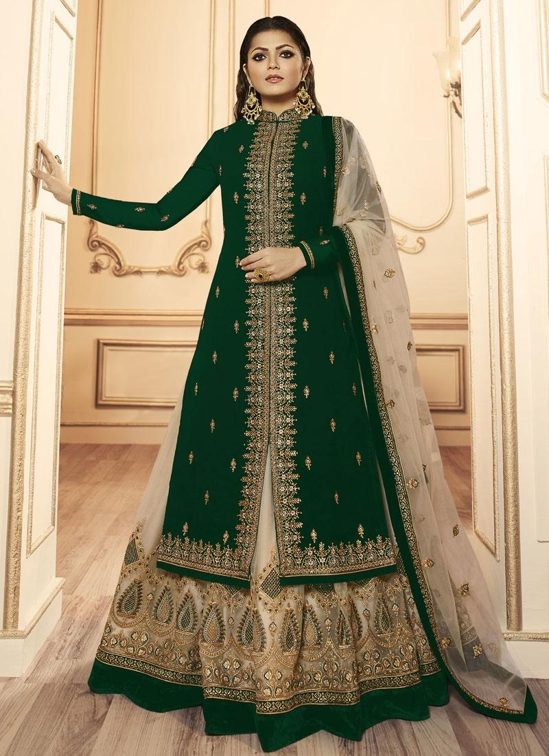 Drashti Dhami Booti Work Kameez Style Lehenga Choli