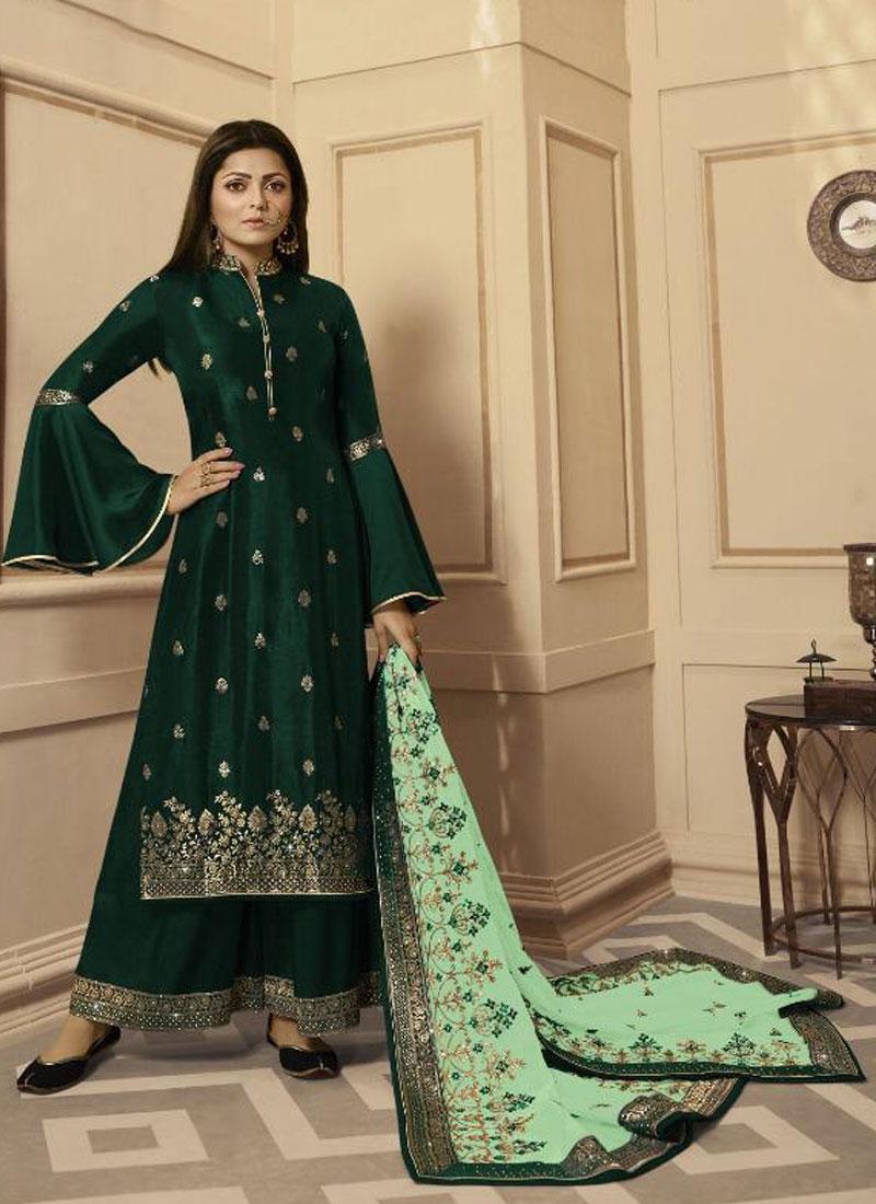 Drashti Dhami Designer Palazzo Salwar Suit For Ceremonial