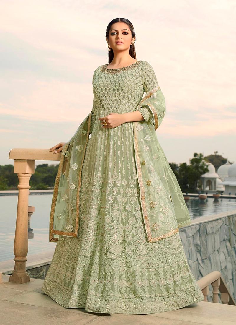Drashti Dhami Embroidered Floor Length Anarkali Suit
