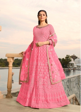 Drashti Dhami Faux Georgette Floor Length Anarkali Suit