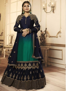 Drashti Dhami Faux Georgette Kameez Style Lehenga
