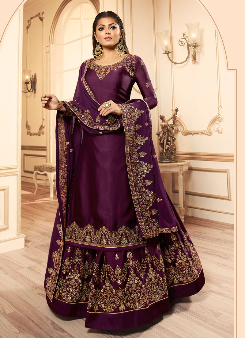 Drashti Dhami Kameez Style Lehenga Choli
