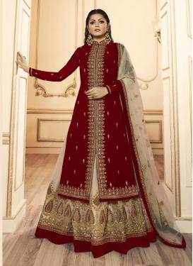 Drashti Dhami Net Designer Kameez Style Lehenga