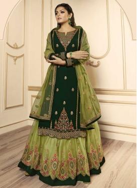Drashti Dhami Net Designer Kameez Style Lehenga Choli