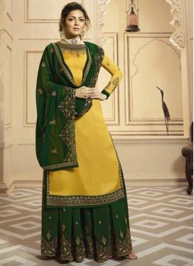 Drashti Dhami Palazzo Style Pakistani Salwar Suit For Festival