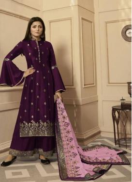 Drashti Dhami Silk Georgette Palazzo Designer Salwar Suit
