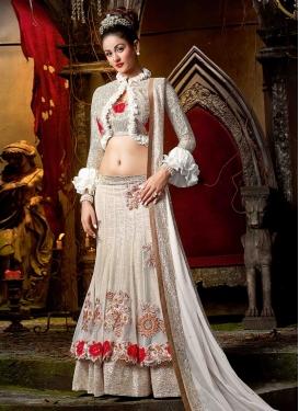 Elegant Net Jacket Style Lehenga Choli