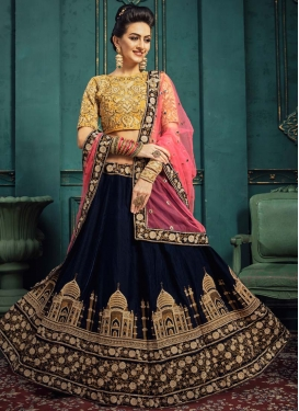 Embroidered Work A - Line Lehenga