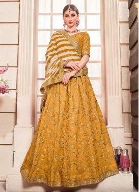 Embroidered Work A Line Lehenga Choli For Party