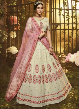 Embroidered Work A - Line Lehenga For Festival