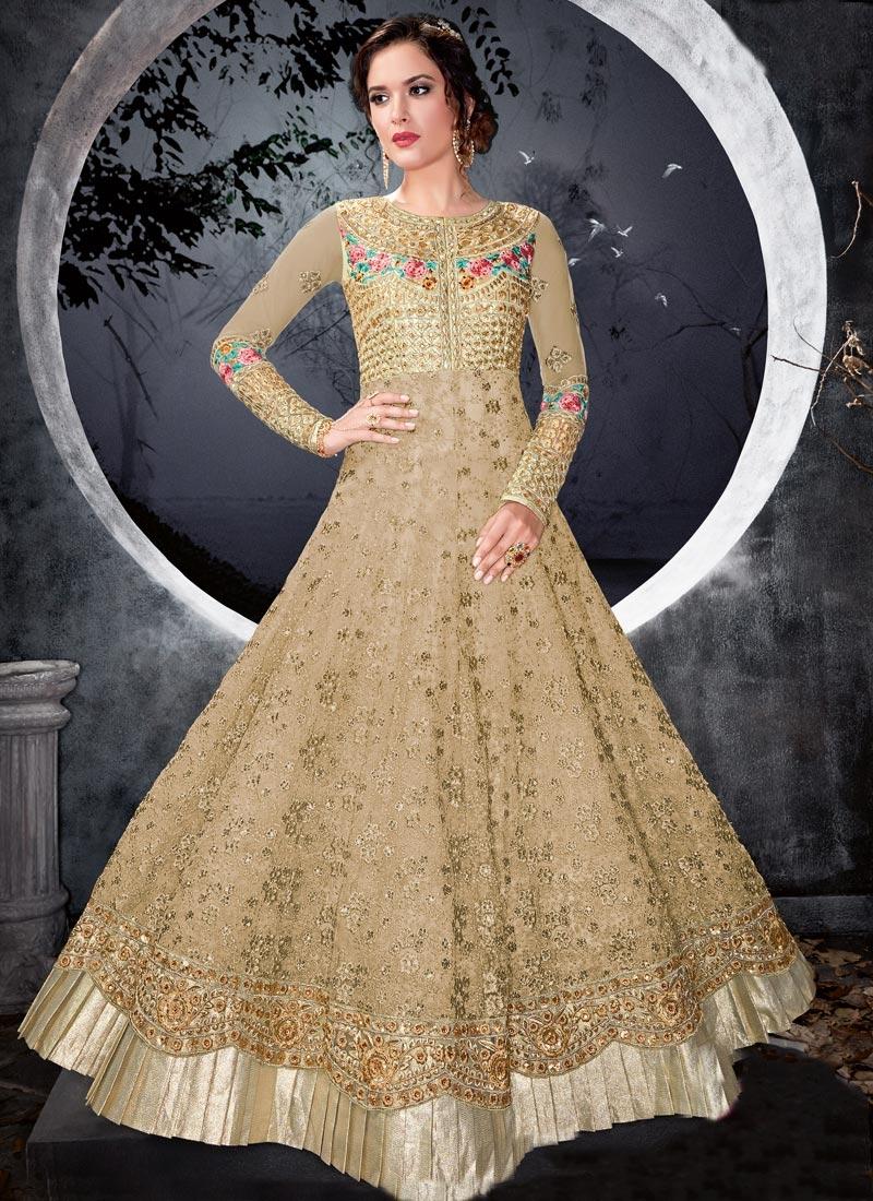 Embroidered Work Anarkali Salwar Kameez