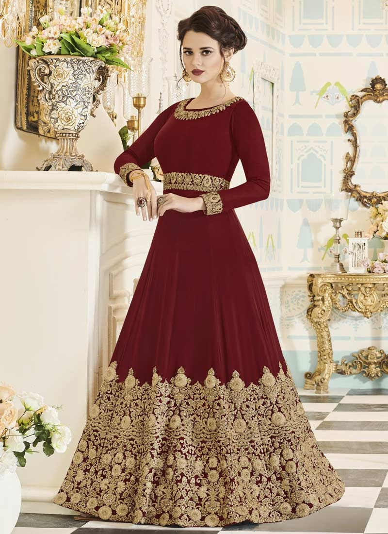 Embroidered Work Anarkali Salwar Kameez