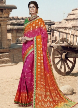 Embroidered Work Art Silk Traditional Saree
