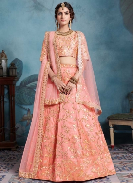 Embroidered Work Art Silk Trendy Lehenga Choli