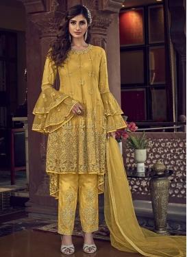 Embroidered Work Asymmetrical Designer Salwar Suit